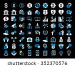financial business glyph icon... | Shutterstock . vector #352370576