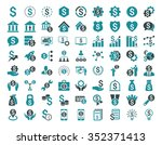 financial business vector icon... | Shutterstock .eps vector #352371413