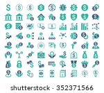 financial business vector icon... | Shutterstock .eps vector #352371566