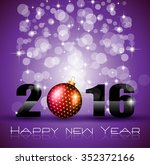 2016 happy new year and merry... | Shutterstock . vector #352372166