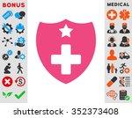 medical insurance vector icon....   Shutterstock .eps vector #352373408