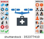 drug drone delivery vector icon.... | Shutterstock .eps vector #352377410