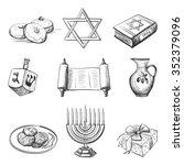 illustration of set of element... | Shutterstock . vector #352379096