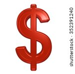 dollar sign from red glass... | Shutterstock . vector #352391240