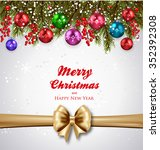 christmas background realistic... | Shutterstock .eps vector #352392308