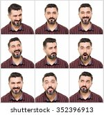 multiple image young man .   Shutterstock . vector #352396913