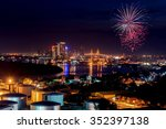 Firework Of Cityscape At Night...