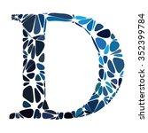 blue round circle alphabet... | Shutterstock .eps vector #352399784