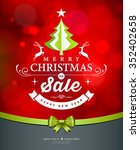 merry christmas green tree sale ... | Shutterstock .eps vector #352402658