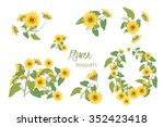 Floral  Sunflower Retro Vintag...