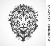 lions head. | Shutterstock .eps vector #352424408