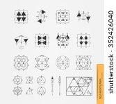 big set of geometric shapes.... | Shutterstock .eps vector #352426040