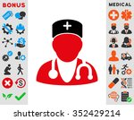 physician vector icon. style is ... | Shutterstock .eps vector #352429214