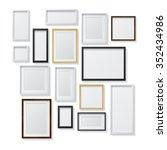 set of white  black  realistic...   Shutterstock .eps vector #352434986