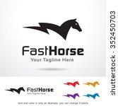 Stock vector fast horse logo template design vector 352450703