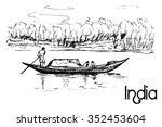 hand drawn transportation small ... | Shutterstock .eps vector #352453604