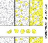 seamless fruit pattern  lemon... | Shutterstock .eps vector #352454360