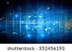 digital background with... | Shutterstock . vector #352456193