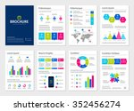 business modern a4 brochures... | Shutterstock .eps vector #352456274
