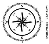 compass rose in black and white ... | Shutterstock .eps vector #35245894