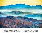 beautiful blue mountains and... | Shutterstock . vector #352461290
