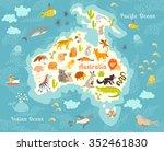 Animals World Map  Australia....