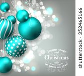christmas invitation with... | Shutterstock .eps vector #352465166
