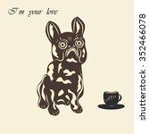 bulldog dog miniature statuette ... | Shutterstock . vector #352466078
