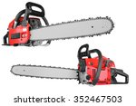 gasoline chain saw isolated on...   Shutterstock . vector #352467503