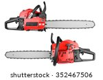 gasoline chain saw isolated on...   Shutterstock . vector #352467506