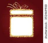 golden christmas gift  best gift | Shutterstock .eps vector #352469900