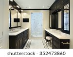 master bath in luxury home with ... | Shutterstock . vector #352473860