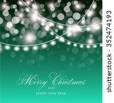 christmas glowing lights. merry ...   Shutterstock .eps vector #352474193