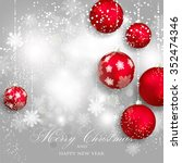 merry christmas and happy new...   Shutterstock .eps vector #352474346
