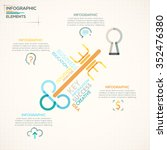 modern infographics options... | Shutterstock .eps vector #352476380