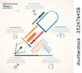 modern infographics options... | Shutterstock .eps vector #352476458