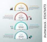 modern infographics template... | Shutterstock .eps vector #352476473