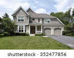 home in suburbs with double... | Shutterstock . vector #352477856