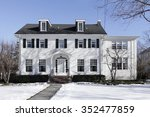 suburban home in winter with...   Shutterstock . vector #352477859