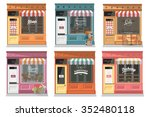 shops and stores facade icons... | Shutterstock .eps vector #352480118