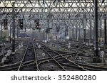 complex railway lines on the...