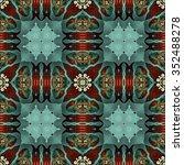 kaleidoscopic wallpaper tiles | Shutterstock . vector #352488278
