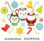 christmas delights   holiday... | Shutterstock .eps vector #352495526