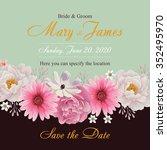 flower wedding invitation card  ...   Shutterstock .eps vector #352495970