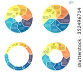 circular infographics step by...   Shutterstock .eps vector #352496714