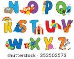 alphabet fun n   z | Shutterstock .eps vector #352502573