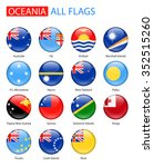 round glossy flags of oceania   ... | Shutterstock .eps vector #352515260