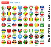 round glossy flags of africa  ... | Shutterstock .eps vector #352515266