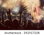 new year concept   cheering... | Shutterstock . vector #352517228