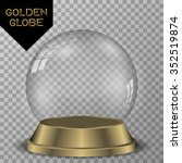 crystal ball with golden base... | Shutterstock .eps vector #352519874